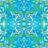 Loral Wektorowy Kolorowy Ozdobny Bezszwowy wzór Ilustracji