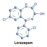 Lorazepam is a benzodiazepine medication Stock Images