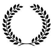 Lorbeer-Kranz mit ausführlichen Zweigen, Vektor Lizenzfreies Stockbild