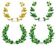 Lorbeer und Eiche Wreaths Lizenzfreie Stockfotos