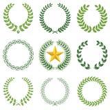 Lorbeer Wreaths Lizenzfreie Stockbilder