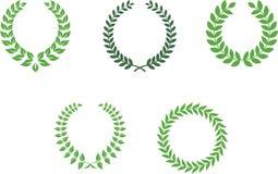 Lorbeer Wreaths stock abbildung