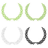 Lorbeerwreath-Set Stockbild