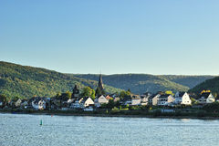 Lorch city near Rhine river Stock Images