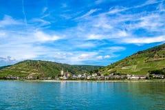 Lorch am Rhein, маленький город в Rheingau-Taunus-Kreis в Ger Стоковые Изображения