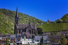Lorch am Rhein em Alemanha fotografia de stock
