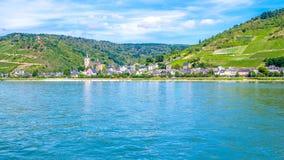 Lorch am Rhein, miasteczko w Rheingau-Taunus-Kreis w Ger Zdjęcie Royalty Free