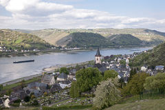 Lorch in the Rhine valley, Germany. Small village of Lorch in the Rhine valley, Germany stock images