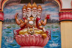 Lord Brahma. The four headed Brahma, India royalty free stock photos