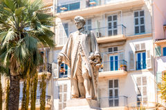 Lord Brougham statue in Cannes city Stock Image