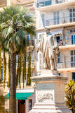 Lord Brougham staty i den Cannes staden Arkivfoton