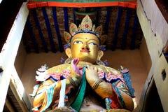 Lord buddha. Statue at shanti stupa in leh india Royalty Free Stock Photos