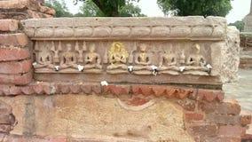 Lord Buddha auf Stein Stockbild