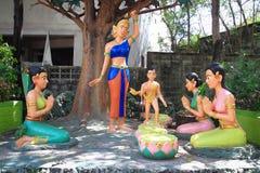 Lord Buddha birth day statue Stock Photos