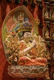Lord Buddha in de Tempel van het Tandoverblijfsel, Singapore Royalty-vrije Stock Foto's