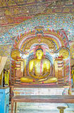 Lord Buddha in Dragon Arch Immagine Stock