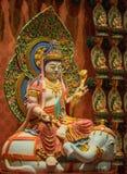 Lord Buddha i tandreliktemplet, Singapore Arkivbilder
