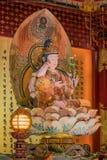 Lord Buddha i tandreliktemplet, Singapore Arkivbild
