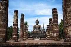 Lord Buddha Image At Wat Mahathat en parc historique de Sukhothai Images stock