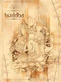 Lord Buddha in meditation for Buddhist festival of Happy Buddha Purnima Vesak Stock Photography