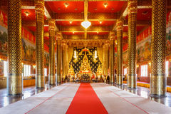 Lord Buddha model in Temple Thailand Stock Image