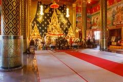 Lord Buddha modell i templet Thailand Arkivbilder