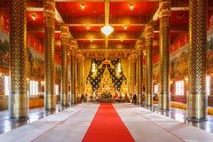 Lord Buddha modell i templet Thailand Fotografering för Bildbyråer