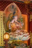 Lord Buddha no templo da relíquia do dente, Singapura Fotografia de Stock