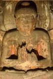 Lord Buddha in posture of meditation royalty free stock photos