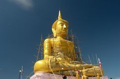 Lord Buddha with blue sky Stock Photography