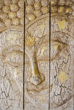 Lord Buddha & x27; s-framsidaträskulptur arkivbild