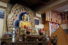 Lord buddha statue. Beautiful shot of lord buddha statue at dalai lama temple, mcLeodganj himachal pradesh in india Stock Image