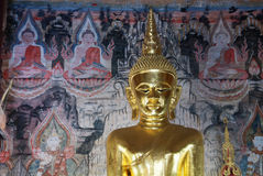 Lord Buddha in tempio Immagine Stock