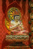 Lord Buddha in tempio della reliquia del dente, Singapore Fotografie Stock Libere da Diritti