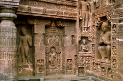 Lord Buddha in various postures. Deity of Lord Buddha carved out in various postures Stock Photos
