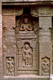 Lord Buddha in various postures. Deity of Lord Buddha carved out in various postures Royalty Free Stock Photos
