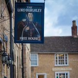 The Lord Burghley pub in Stamford, England Stock Photo
