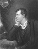 Lord Byron. (1788-1824) on engraving from the 1800s. One of the greatest British poets and leading figures in the Greek war of independence against the Ottoman Stock Photo