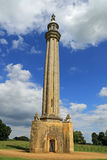 Lord Cobhams Monument, das griechische Tal an einem Sommertag stockfoto