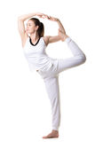 Lord of the Dance yoga pose Stock Photos