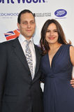 Lord Frederick Windsor & Sophie Winkleman. LOS ANGELES, CA - APRIL 23, 2013: Lord Frederick Windsor & actress wife Sophie Winkleman at the launch party for royalty free stock image