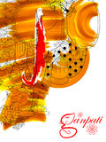 Lord Ganapati background for Ganesh Chaturthi Stock Photography