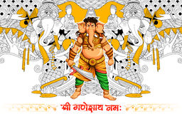 Lord Ganapati background for Ganesh Chaturthi Royalty Free Stock Photography