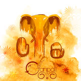 Lord Ganapati background for Ganesh Chaturthi in paint style Royalty Free Stock Image