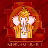 Lord Ganapati for Happy Ganesh Chaturthi festival background Stock Photography