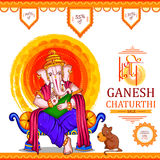 Lord Ganapati for Happy Ganesh Chaturthi festival shopping sale offer promotion advetisement background Royalty Free Stock Image