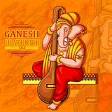 Lord Ganapati for Happy Ganesh Chaturthi festival shopping sale offer promotion advetisement background. Vector illustration of Lord Ganapati for Happy Ganesh vector illustration