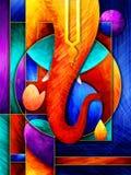 Lord Ganapati para el fondo feliz del festival de Ganesh Chaturthi ilustración del vector