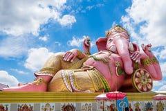 Lord ganesh big statue pink sleep Stock Photography