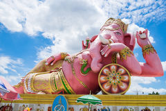 Lord ganesh big statue pink sleep Royalty Free Stock Photography